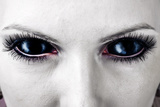 Evil Black Female Zombie Eyes
