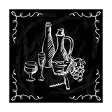 Restaurant or Bar Wine List on Chalkboard Background