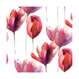 Wallpaper with Tulips Flowers