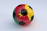 Soccer Ball with Cameroon Flag