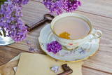 Summer Cup of Tea with Lilac
