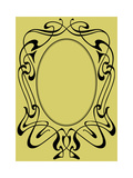 Abstract Framework in Style Art-Nouveau