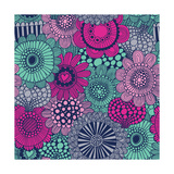 Stylish Bright Pattern Made of Gorgeous Flowers