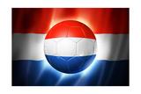Soccer Football Ball with Netherlands Flag
