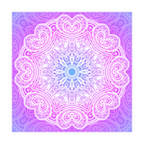 Indian Ornament  Mandala in Pink