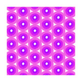 Abstract Flower Background in Shades of Radiant Orchid