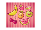 Kawaii Smiling Fruits