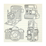 Cool Hand Drawn Old Camera Set  All Time Legends