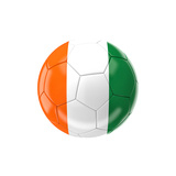 Soccer Ball with Ivory Coast Flag