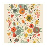 Gentle Floral Pattern in Bright Colors