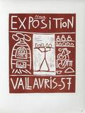 AF 1957 - Exposition Vallauris Reproduction pour collectionneurs par Pablo Picasso