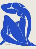 Papiers Découpés : Nu Bleu
