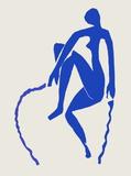 Papiers Découpés : Nu Bleu Sauteuse De Corde