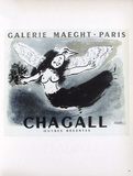 Af 1950 - Galerie Maeght Reproduction pour collectionneurs par Marc Chagall