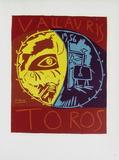 AF 1956 - Toros en Vallauris Reproduction pour collectionneurs par Pablo Picasso