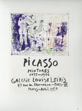 AF 1957 - Galerie Louise Leiris Reproduction pour collectionneurs par Pablo Picasso