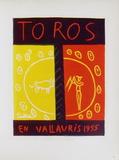 AF 1955 - Toros en Vallauris Reproduction pour collectionneurs par Pablo Picasso