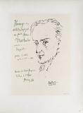 AF 1955 - Hommage à Machado Reproduction pour collectionneurs par Pablo Picasso