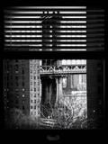 Window View with Venetian Blinds: the Manhattan Bridge View - Manhattan