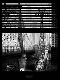 Window View with Venetian Blinds: Roosevelt Island Tram and Ed Koch Queensboro Bridge