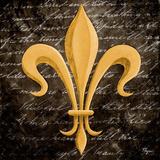 Scripted Gold Fleur de lis II