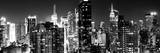 Panoramic View of Skyscrapers of Times Square and 42nd Street at Night Papier Photo par Philippe Hugonnard