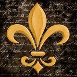 Scripted Gold Fleur de lis I