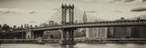 Panoramic Landscape - Manhattan Bridge with the Empire State Building from Brooklyn