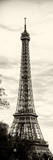 Eiffel Tower  Paris  France - Sepia - Tone Vintage Photography