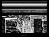 Window View with Venetian Blinds: Central Park and Upper East Side Buildings
