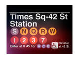 Subway Times Square - 42 Street Station - Subway Sign - Manhattan  New York City  USA