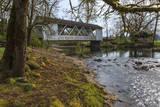 USA  Oregon  Larwood Wayside  Larwood Bridge in early Spring