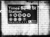 Subway Times Square - 42 Street Station - Subway Sign - Manhattan, New York City, USA Reproduction d'art par Philippe Hugonnard