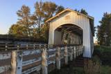 USA  Oregon  Scio  a cyclist crossing the Gilkey Bridge