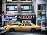Urban Scene with Yellow Taxis Manhattan Winter
