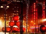 Christmas Decorations in front of the Radio City Music Hall in the Snow