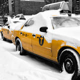NYC Yellow Cab in the Snow