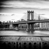 Manhattan Bridge with the Empire State Building from Brooklyn
