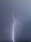 Lightning over Capitol Reef National Monument  Utah  USA