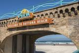 USA  Florida  Daytona Beach  Welcome sign to Main Street Pier