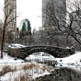 Snowy Gapstow Bridge of Central Park  Manhattan in New York City