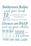Bathroom Rules (White)
