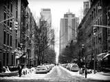 Street Scenes and Urban Landscape in Snowy Manhattan
