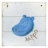 Happy Hippo Reproduction d'art par Erin Butson