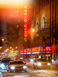 Instants of NY Series - Street Scenes by Night in Winter under the Snow