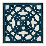 Navy Almond Woodcut H Reproduction d'art par Tina Carlson