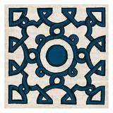 Navy Almond Woodcut B Reproduction d'art par Tina Carlson