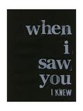 When I Saw You I