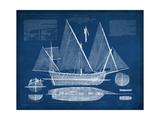 Antique Ship Blueprint III Reproduction d'art par Vision Studio