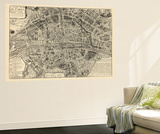 France  Paris  Vintage Map